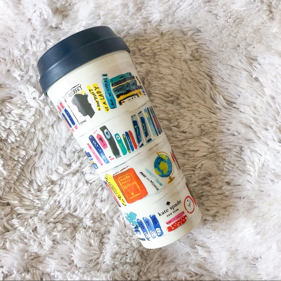 kate spade | like a book insulated travel mug